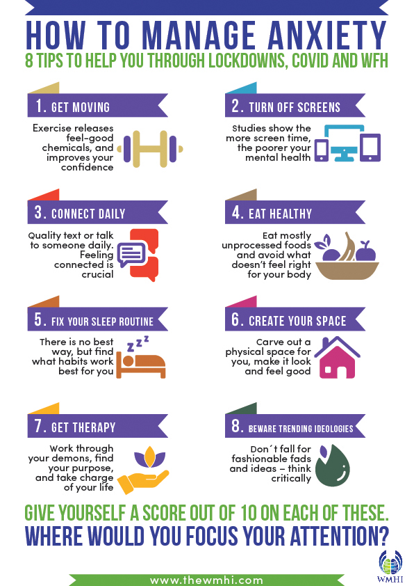 How to manage anxiety - 8 tips